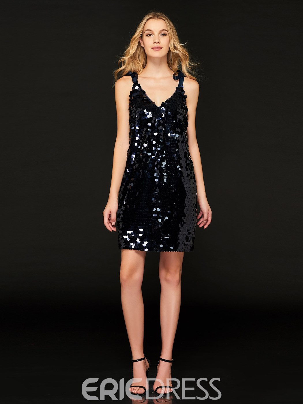 Ericdress Sheath Sequin Backless Bodycon Homecoming Dress