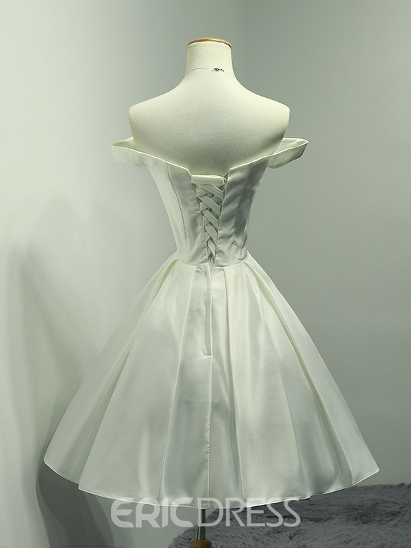 Ericdress A Line Off The Shoulder Homecoming White Dress