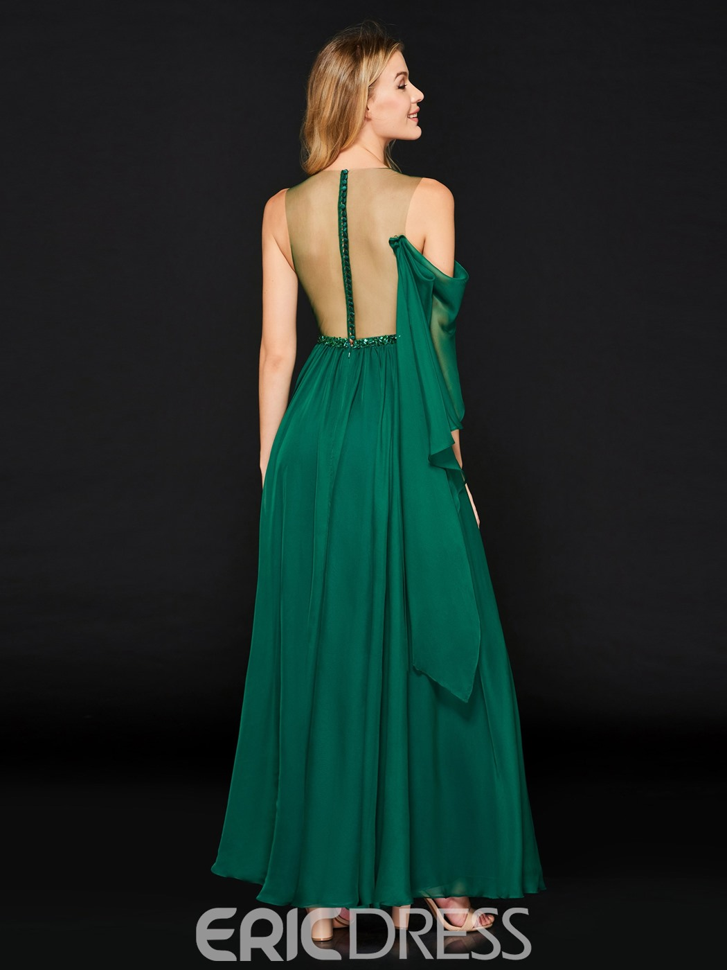 Ericdress A Line Split-Front Long Prom Dress With Beadings