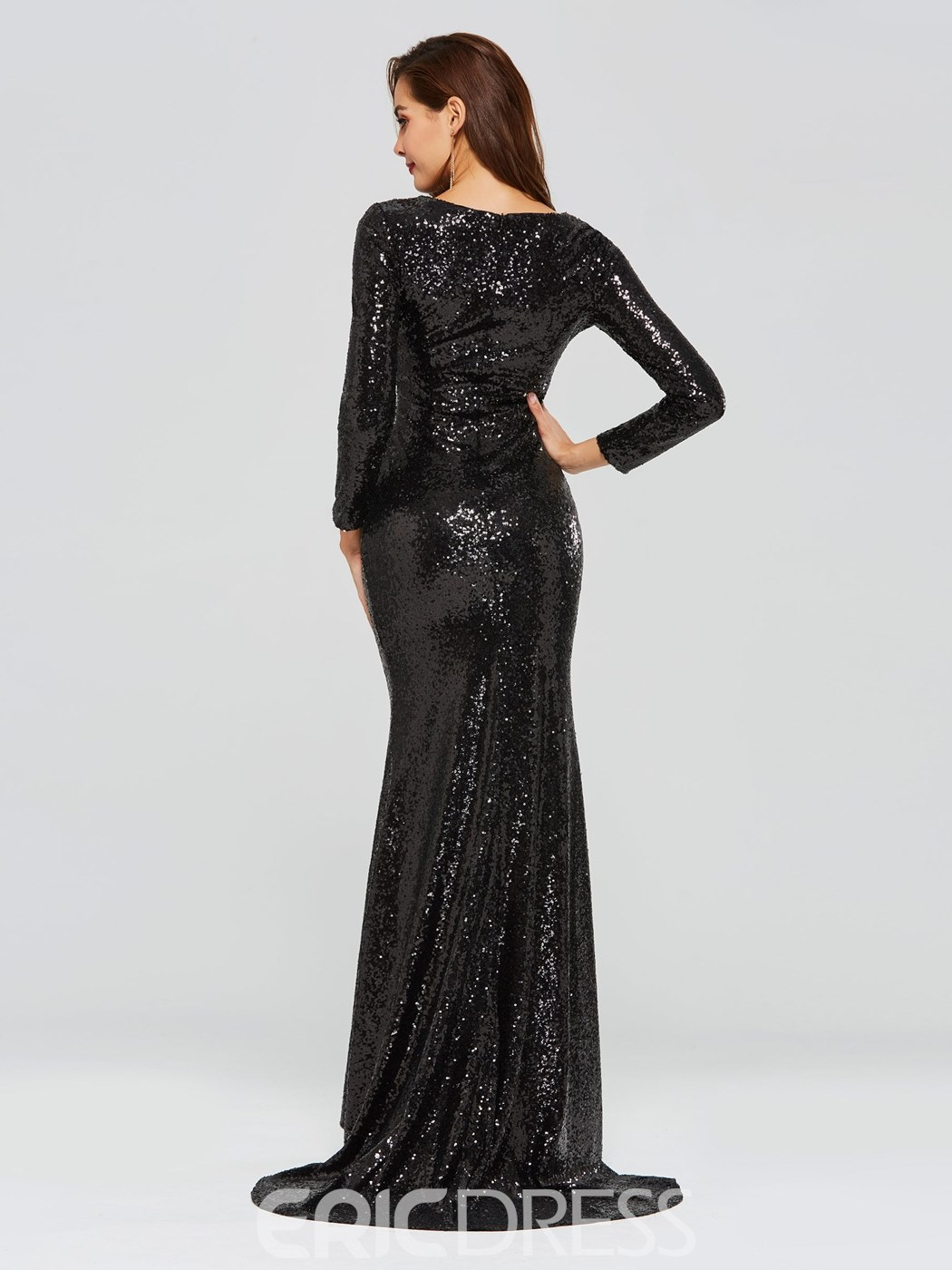Black Evening Gowns With Sleeves