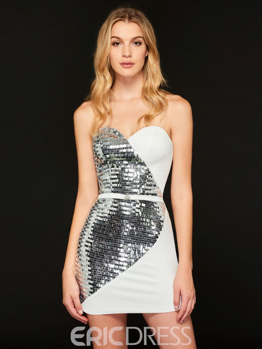Ericdress Sweetheart Sheath Sequin Short Bodycon Homecoming Dress