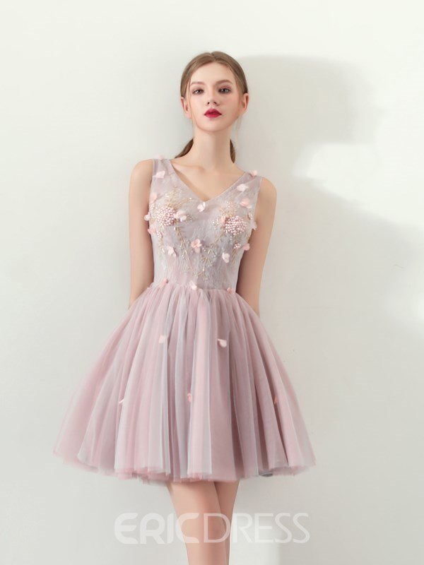 Ericdress Sweet Short Homecoming Dress With Beadings
