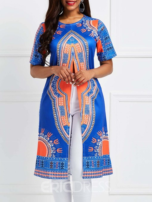 Ericdress Crew Neck Dashiki African Style Totem Print Womens T Shirt