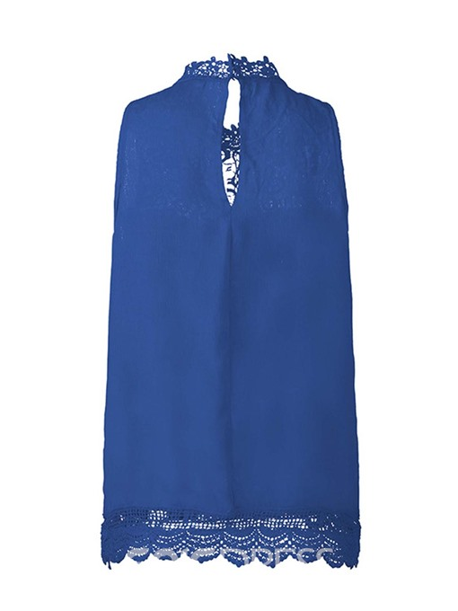 Ericdress Lace Patchwork Solid Color Womens Top