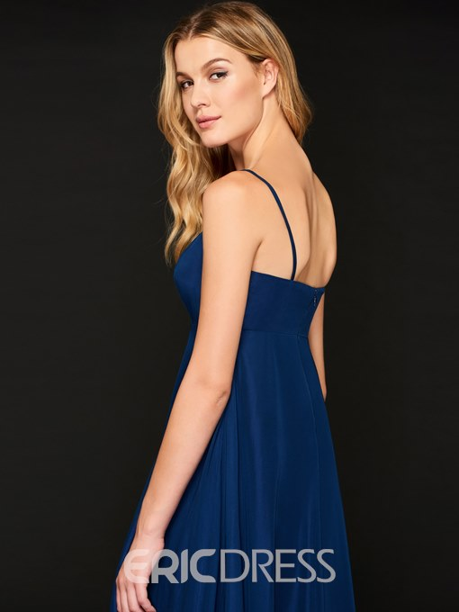Ericdress A Line Spaghetti Straps Evening Dress With Starry Cape