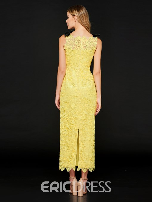 Ericdress Sheath Lace Ankle Length Prom Party Dress