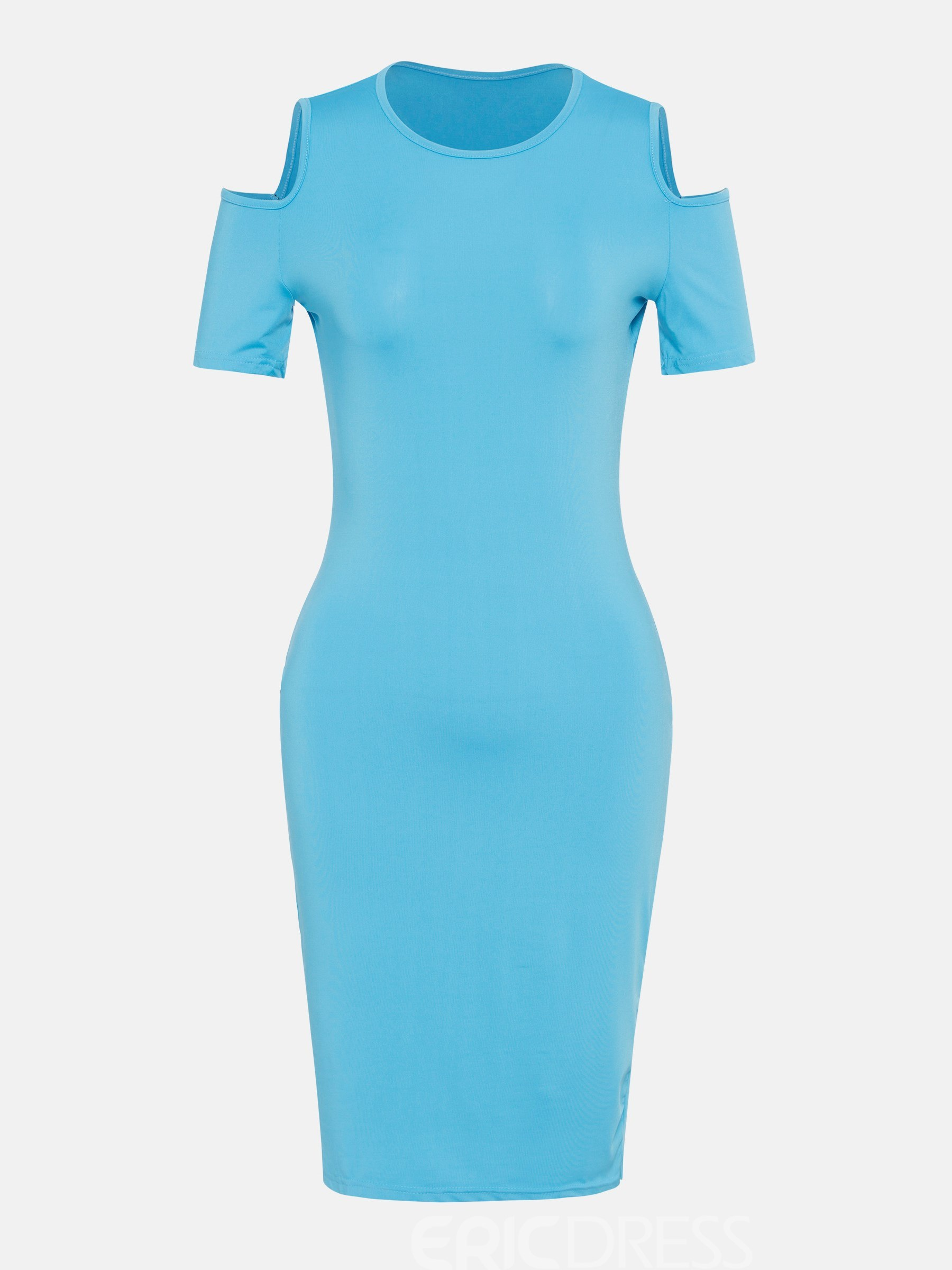 Ericdress Milk Fiber Hollow Pullover Bodycon Dress