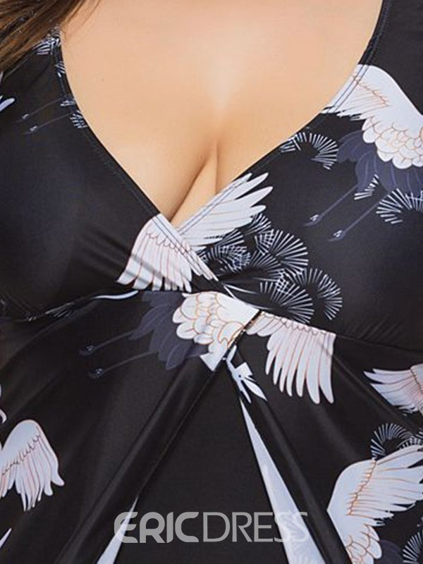 Print European Fashion Plus Size Swimwear