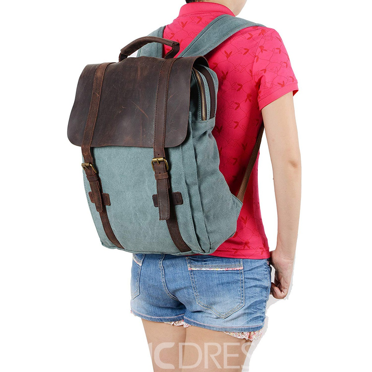 Ericdress Retro Canvas School Travel Backpack