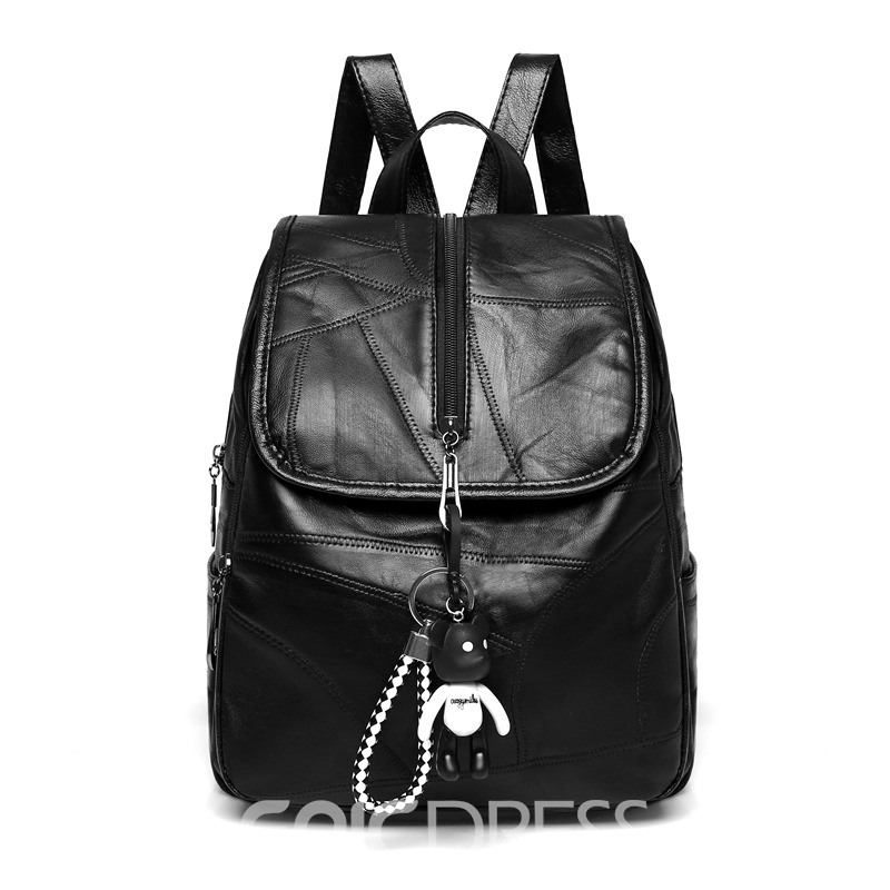 Ericdress European Casual Plain Medium Backpack