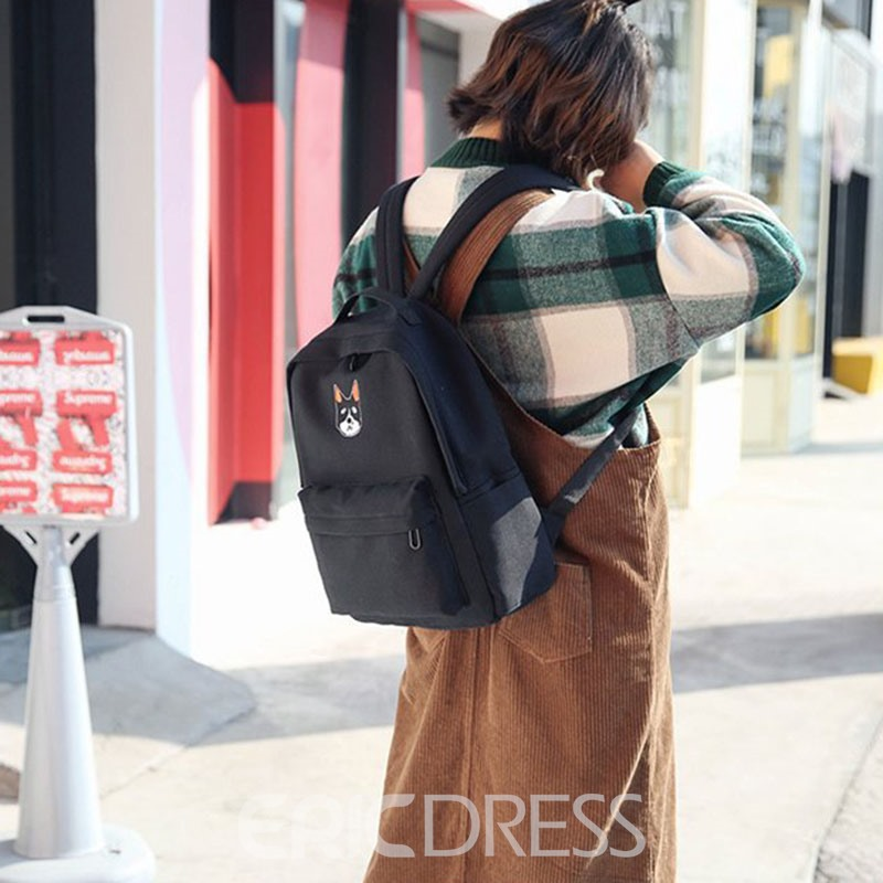 Ericdress Korean Cartoon Canvas Medium Backpack