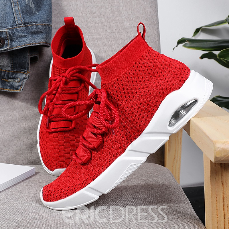 Ericdress Mesh Lace-Up High-Cut Men's Sneakers