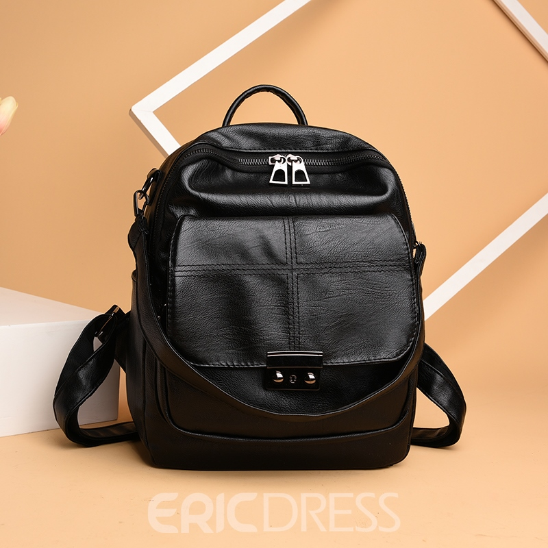 Ericdress European Style Plain Backpack