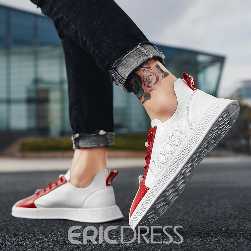Ericdress Embroidery Letter Lace-Up Men's Sneakers