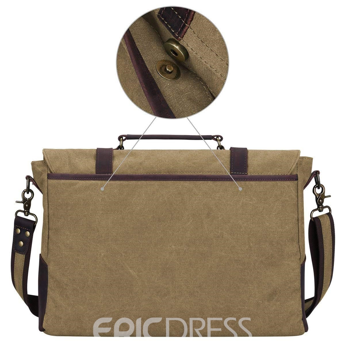 Ericdress Vintage Leather Color Block Men's Bag