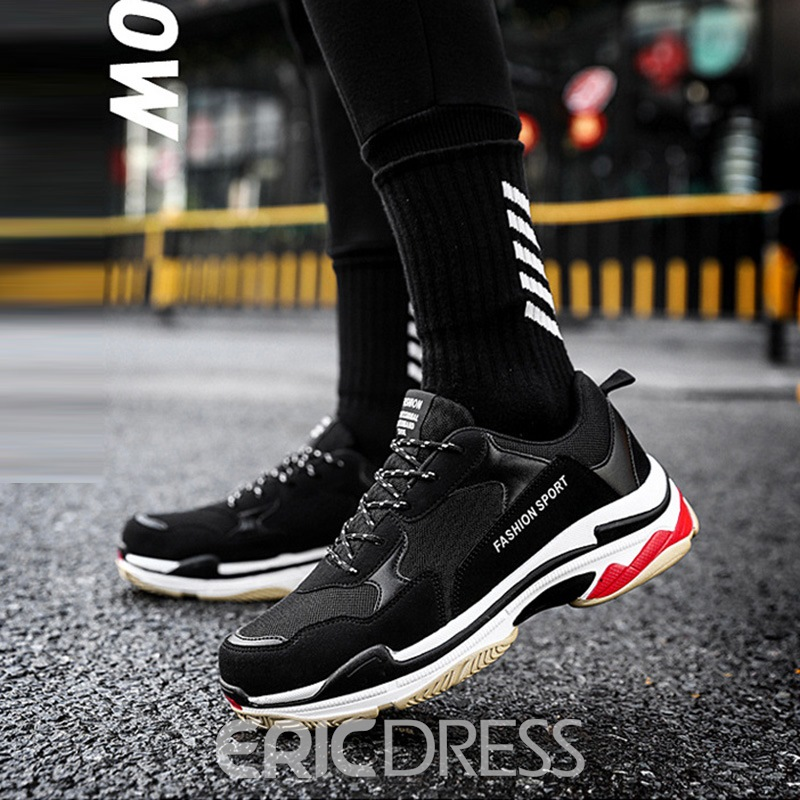 Ericdress Mesh Color Block Lace-Up Men's Trainers