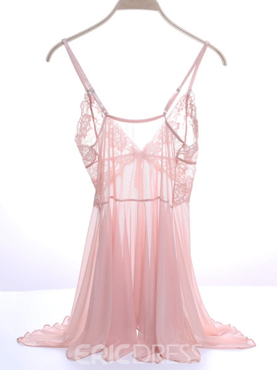 2a2b8981d3a Eridress Sexy Lace Temptation See-Through Thin Nightdress