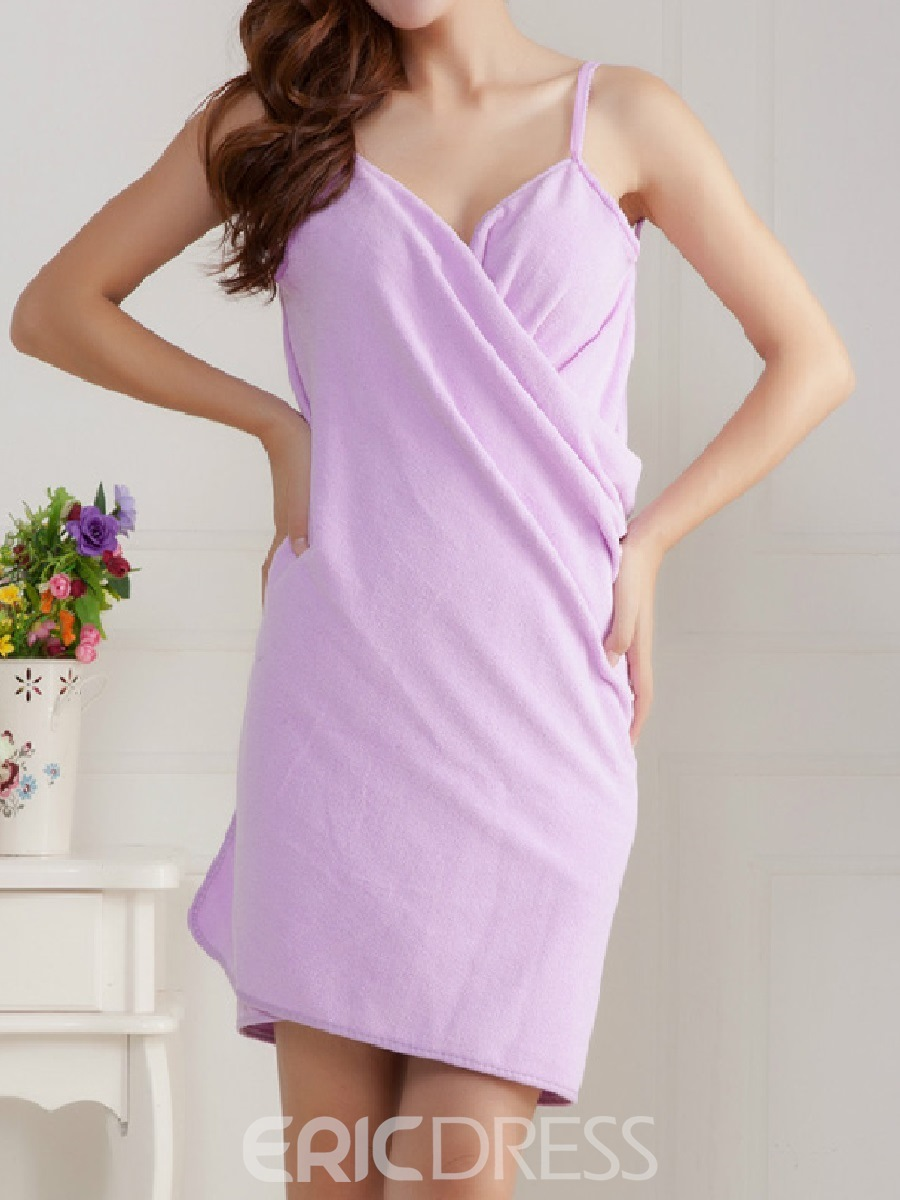 Ericdress Wearable Shoulder Straps Drying Bath Robe 140*70cm 240g