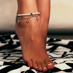 Ericdress Star Pearl Anklets