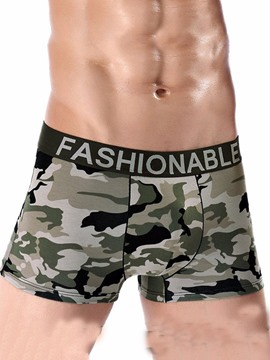 Ericdress Camouflage Widen Waistband Cotton Men's Boxers