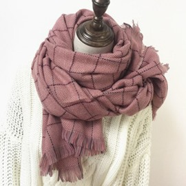 Ericdress Grid Scarf For Women