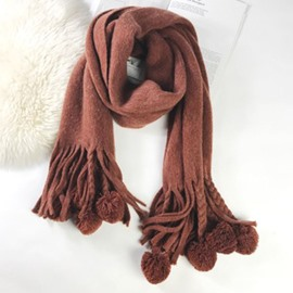 Ericdress Cutie Ball Warm Scarf