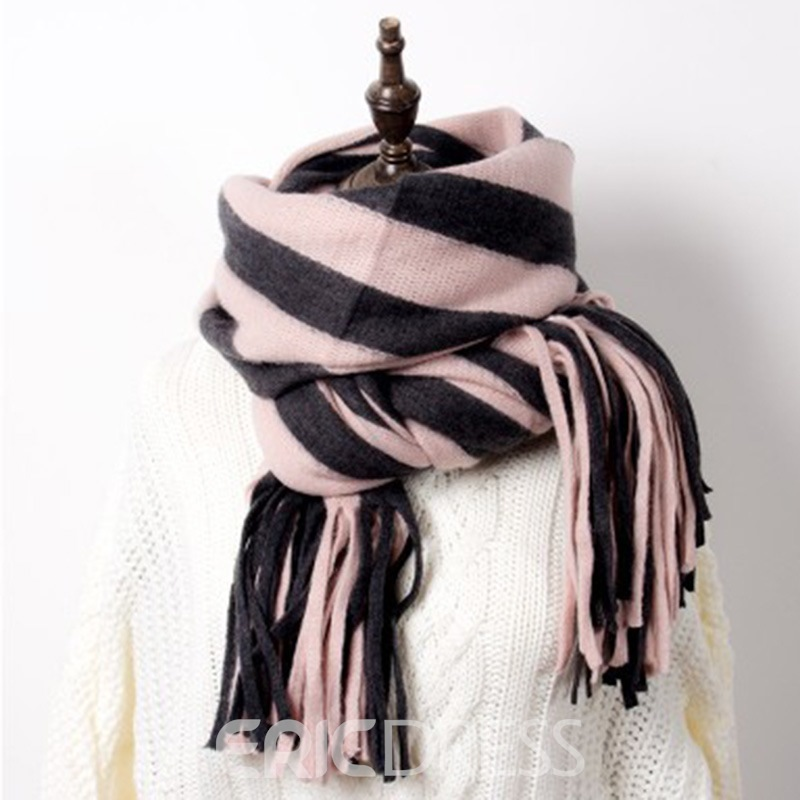 Ericdress Stripe Double Color Scarf