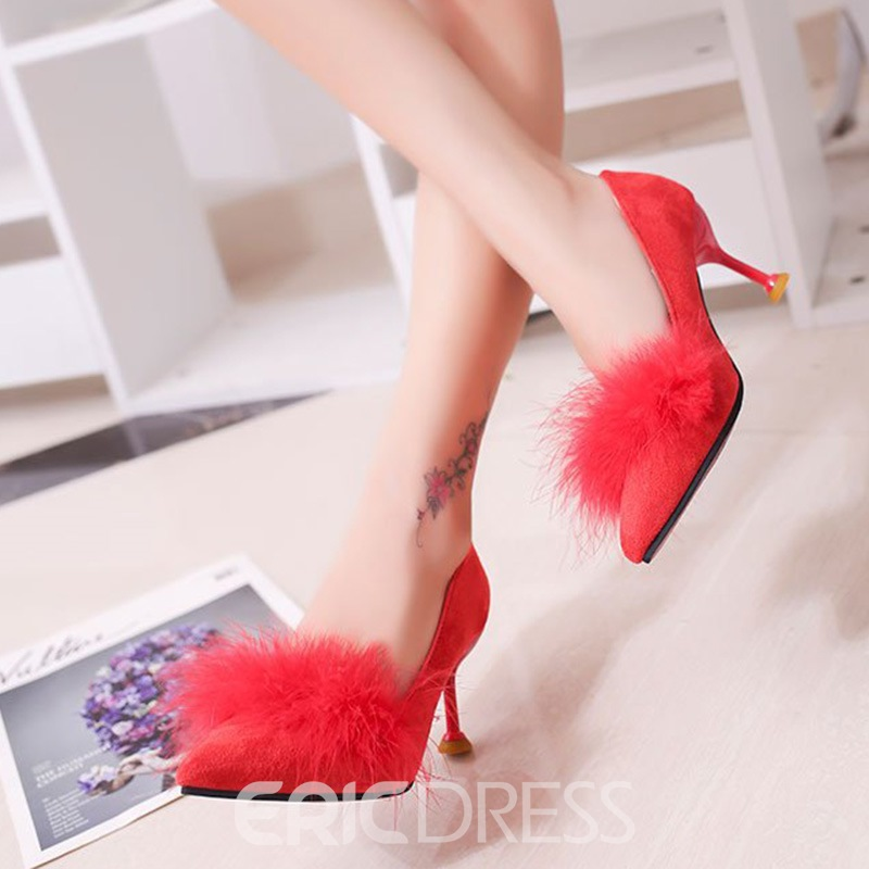 Ericdress Pointed Toe Stiletto Heel Slip-On Pumps