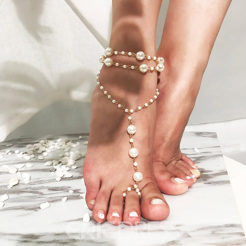Ericdress Pearl Gorgeous Anklet(just 1 Pic)