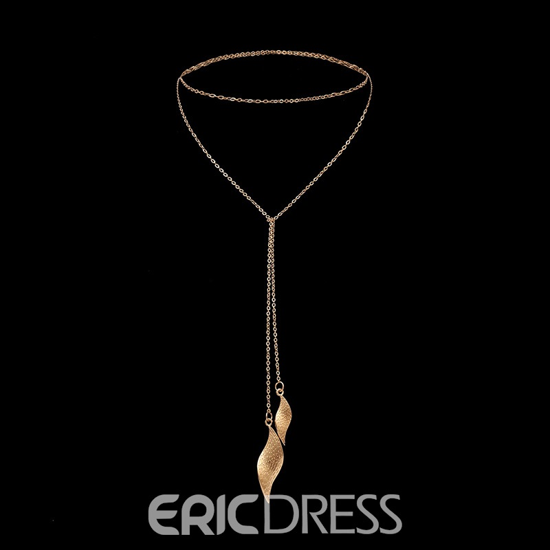 Ericdress Leafage Charm Necklace