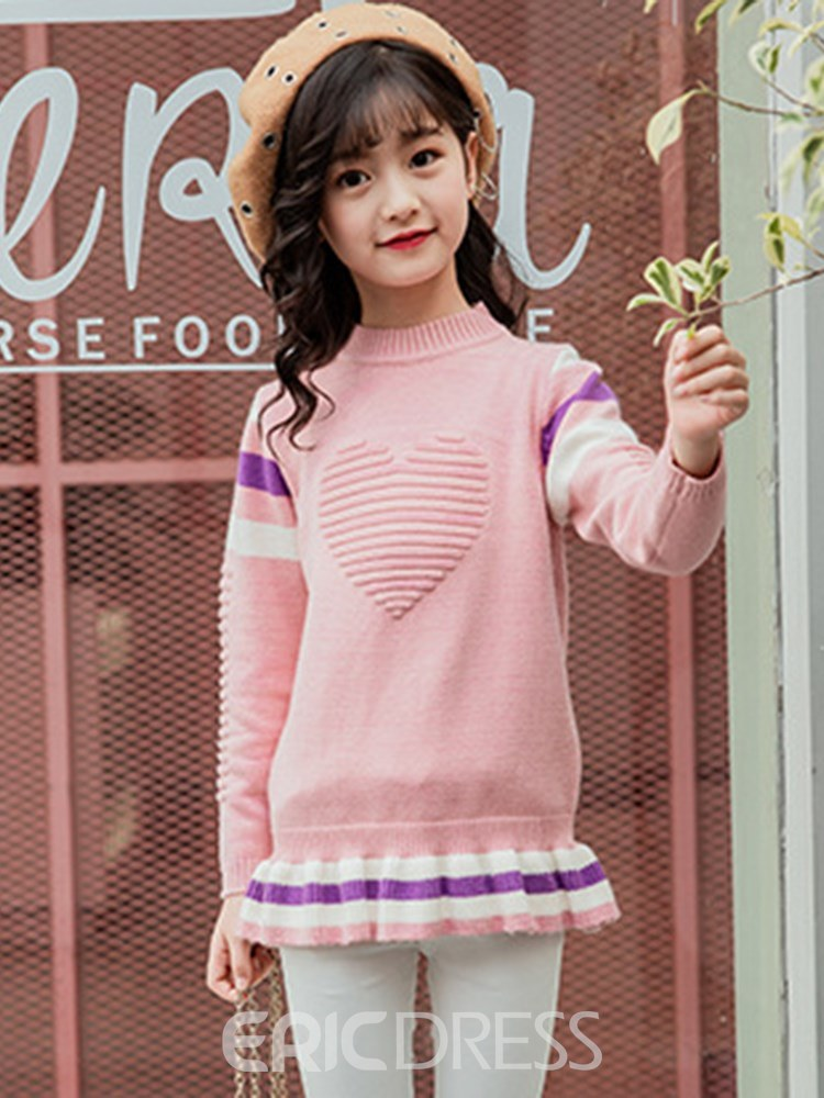 Ericdress Patchwork Cartoon Mid-Length Girl's Casual Sweaters