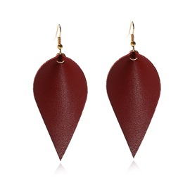 Ericdress Drop Shaped Leather Earrings