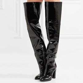 Ericdress Round Toe Chunky Heel Women's Over The Knee Boots