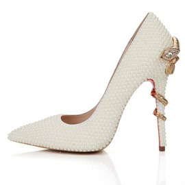 Ericdress Rhinestone Pointed Toe Stiletto Heel Women's Wedding Shoes