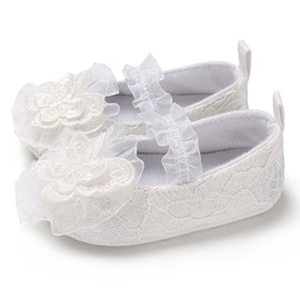 Ericdress Floral Elastic Band Toddler Girl Shoes