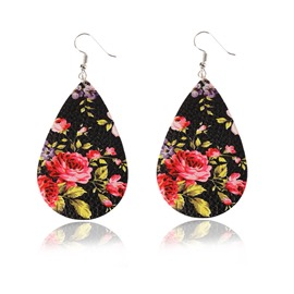 Ericdress Flower Leather Earrings