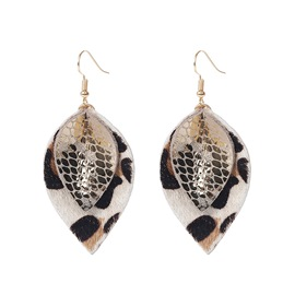 Ericdress Leafage Leather Earrings
