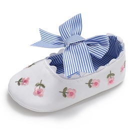 Ericdress Bow Embroidery Toddler Girl Shoes