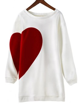 Ericdress Letter Heart Shaped Loose Mid-Length Cool Hoodie