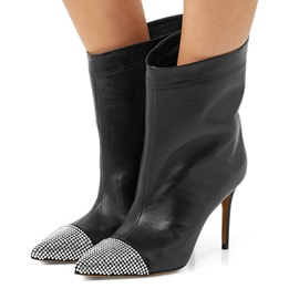 Ericdress Rhinestone Pointed Toe Stiletto Heel Ankle Boots