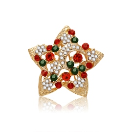 Ericdress Star Diamante Christmas Brooches