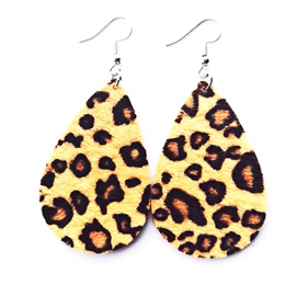 Ericdress Leopard Pattern Leather Earrings