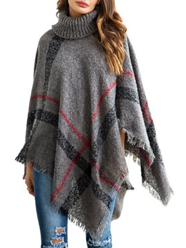 Ericdress Plaid Pullover Loose Cape