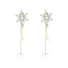 Ericdress Hexagram Pearl Fashion Earrings