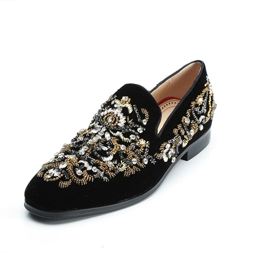 Ericdress Rhinestone Round Toe Men's Oxfords