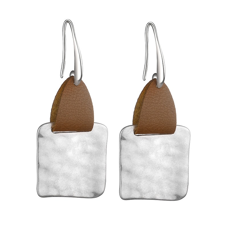 Ericdress Leather Square Style Fashion Earrings