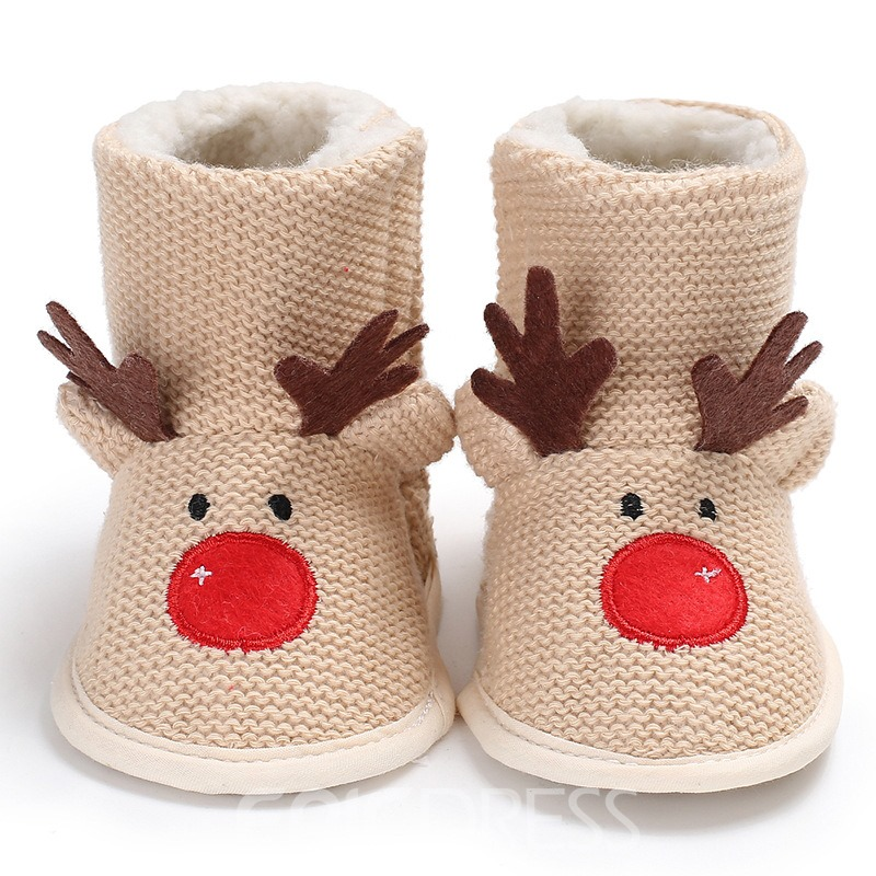 Ericdress Embroidery Slip-On Baby Booties