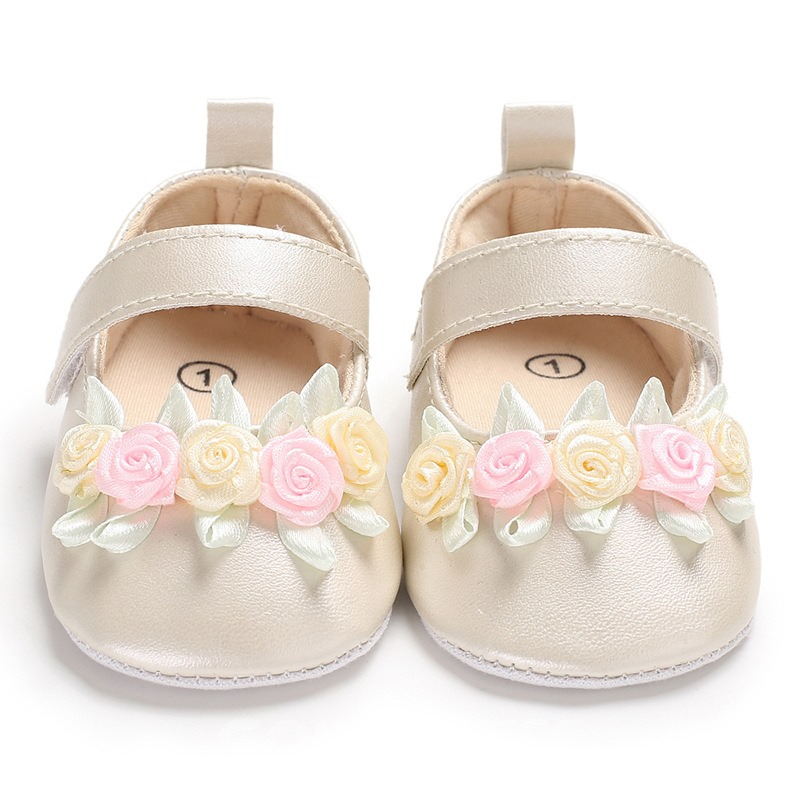 Ericdress Floral Velcro Baby Girl Shoes