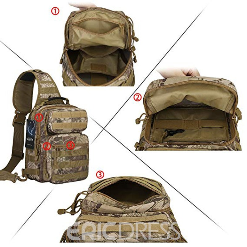 Ericdress Camouflage Barrel Shaped Zipper Men's Bag