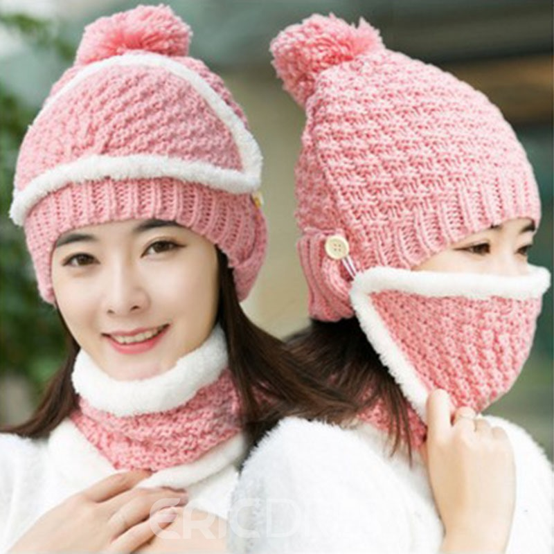Ericdress Winter Hat Set For Women